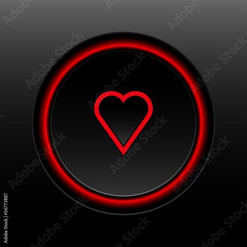 przycisk serce