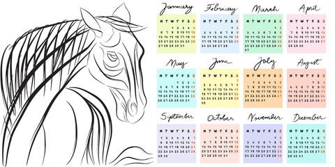 calendar 2014 year of the horse