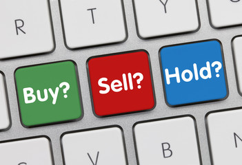 Buy Sell Hold investor keyboard
