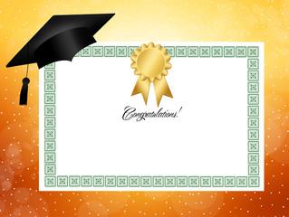Illustration of diploma