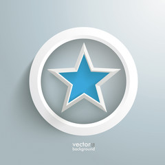 Blue Star White Ring