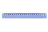 Plastic ruler isolated on white background