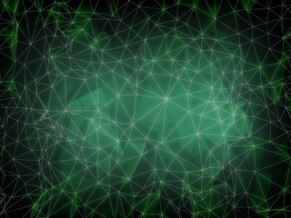 Abstract green digital screen with 3d technology background