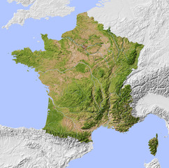 Carte de France © Photos ylc