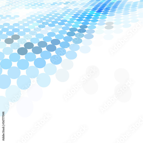 blue dotted perspective background
