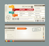 Modern Boarding Pass Wedding Invitation design Template