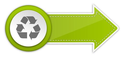 Pfeil Schild Recycling