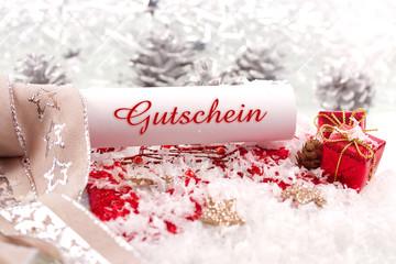 Gutschein Weihnachten ©yvonneweis
