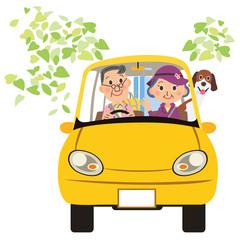 老夫婦ドライブ、旅行