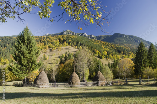 autumn rural mountain landscape