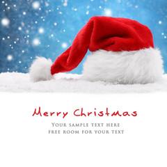 Santa hat on snow
