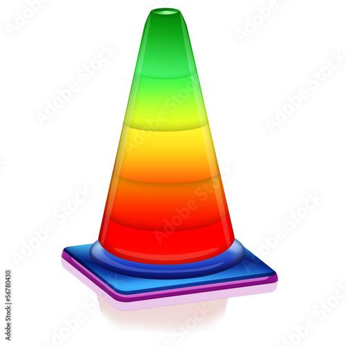 Pylone bunt - regenbogen