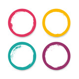 Grunge circles in bright colors