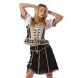 beautiful woman in tiroler oktoberfest outfit
