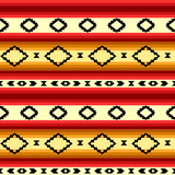 Mexican blanket striped seamless pattern in yellow and red