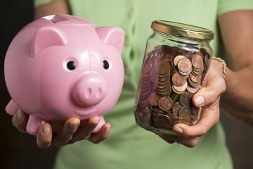 Piggy Bank and Tip Jar