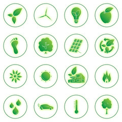 Glowing Ecology Icons
