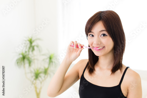 attractive asian woman lifestyle image