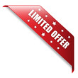 """""""LIMITED OFFER"""" Ribbon (button icon label stamp marketing)"""