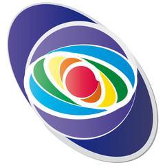 Oval in Chakrafarben - Logo