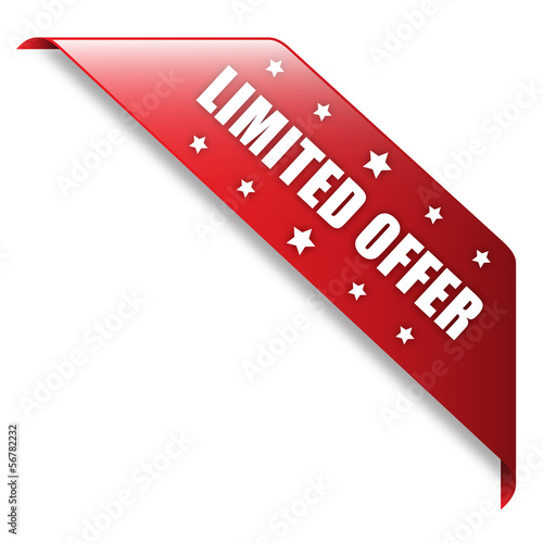 """LIMITED OFFER"" Ribbon (button icon label stamp marketing)"