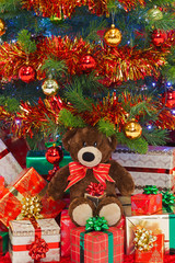 Bear under the Christmas tree