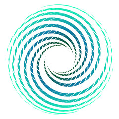 Abstract  blue wave in shape of circle