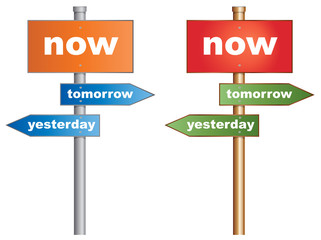 Time Management Isolated Signpost EPS10 Vector