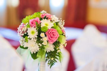 close up of beautiful wedding bouquet