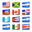 World flags. North America.