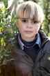 Boy in a garden
