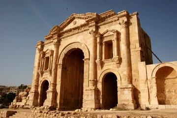 Emperor Hadrian's Arch in Jerash, Jordan