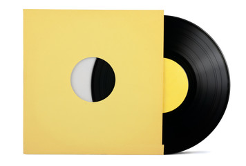 Vinyl record in paper sleeve