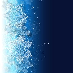 クリスマス 雪 結晶 キラキラ 青