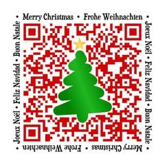 QR Code - Weihnachten international mit Baum