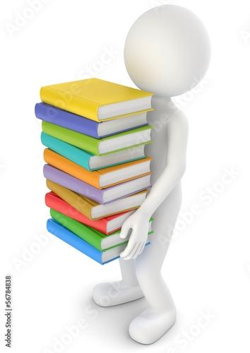 Männchen Bücher tragen