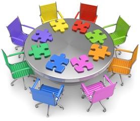 puzzle runder Tisch