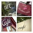 Café, bistrot, enseigne, restaurant, commerce, français