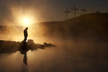 Easter Sunday Morning sunrise reflecting a prayerful moment