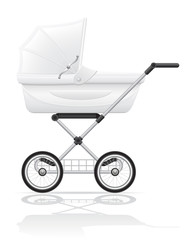 babys perambulator vector illustration