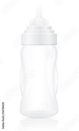 baby bottle vector illustration