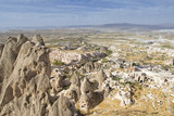 Panoramic View From Uchisar Castle, Nevsehir, Turkey