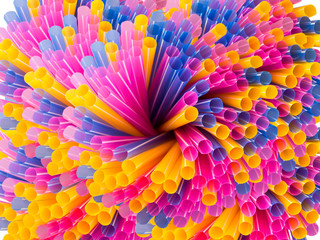 swirl colorful straws
