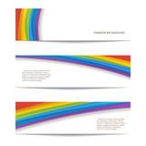 Fototapety set of rainbow background