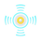 icon of loudspeaker, vector format