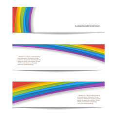 set of rainbow background