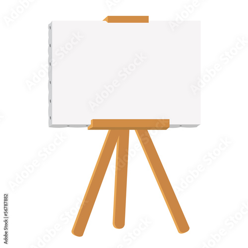 canvas painting on easel