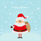 Santa Claus The Christmas card