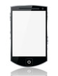 Abstract smartphone with blank screen