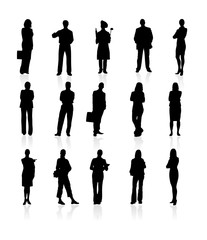 Set of siluetes people. Vector